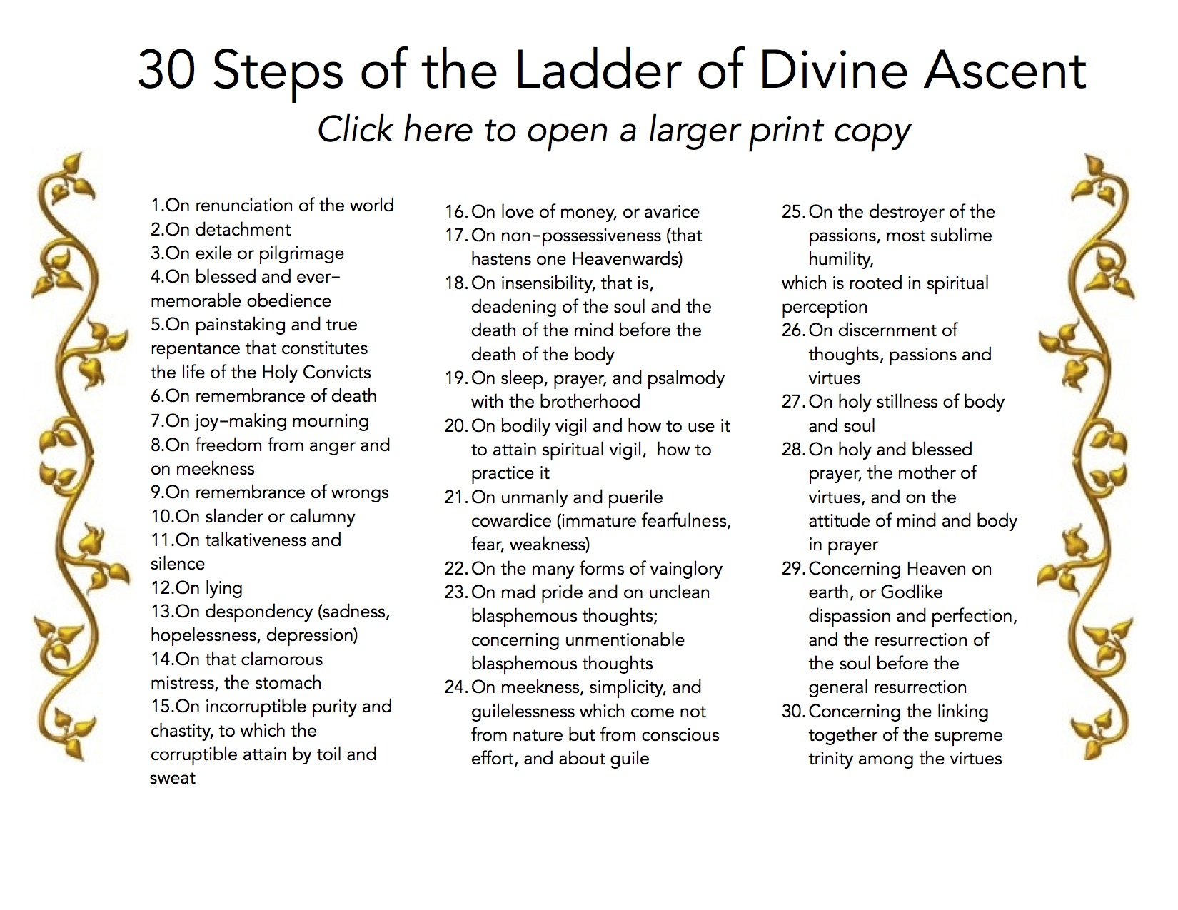 30 steps of ladder